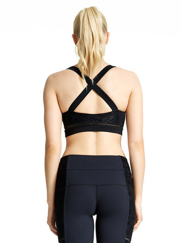 Black Sonia Bra - Karma Athletics Active - back