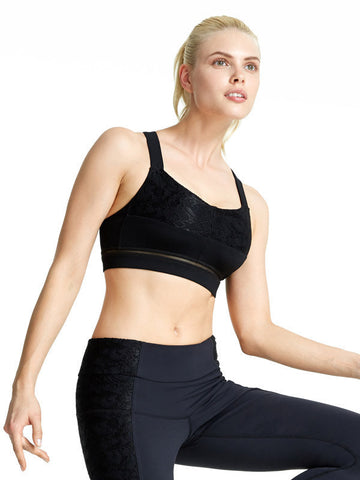 Black Sonia Bra - Karma Athletics Active - front