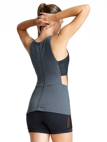 Heather Charcoal Theodora Tank - Karma Athletics Active - back
