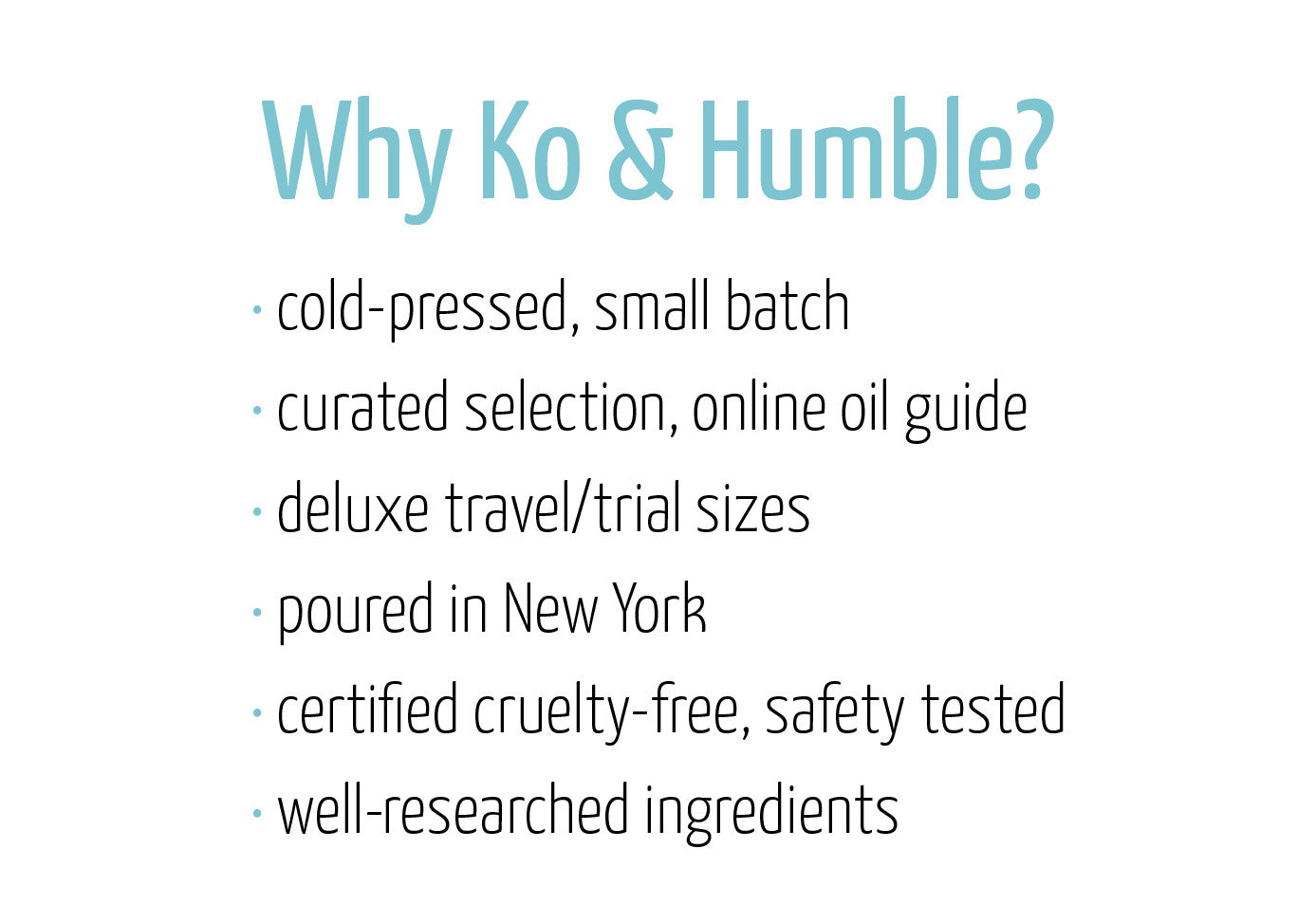 Ko & Humble Beautifying Oils