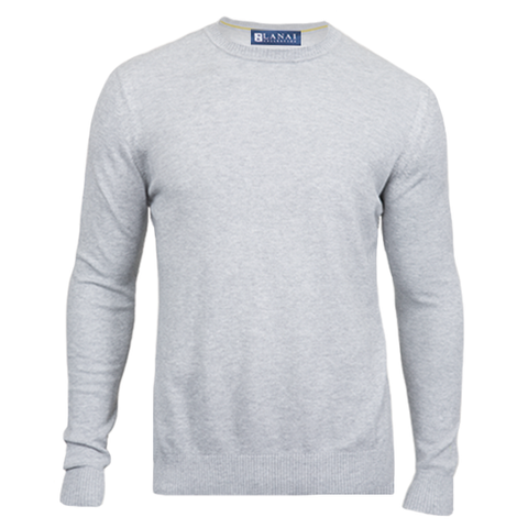 Heather Grey Courtside Lightweight Crewneck
