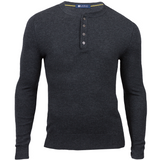 Charcoal Cashmere Wool Henley