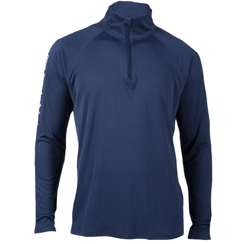 Navy Dry-Fit L/S Quarter Zip