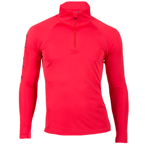 Red Dry-Fit L/S Quarter Zip