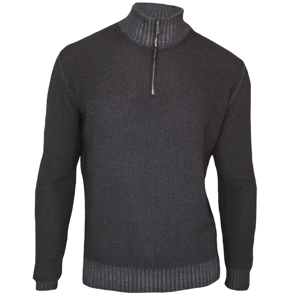 Garment Dyed Wool Quarter-Zip