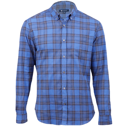 Blue Palaka Flannel Shirt