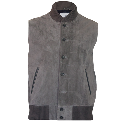 Oxford Grey Suede Explorer Vest