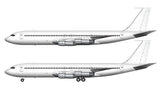All White Boeing 707-320C template