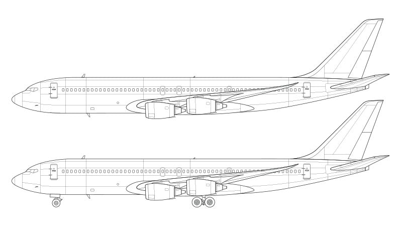 Boeing 707 MAX line drawing