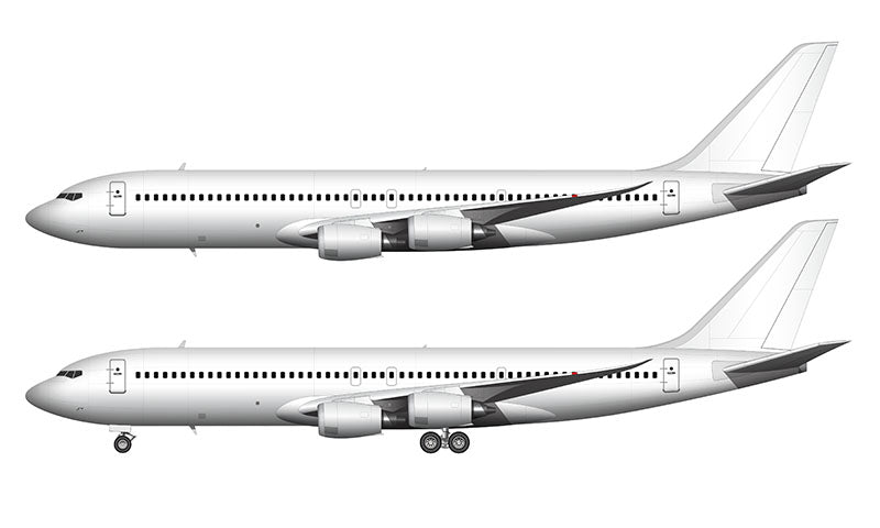 All White Boeing 707 MAX template