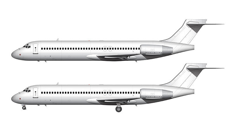 All White Boeing 717-200 template