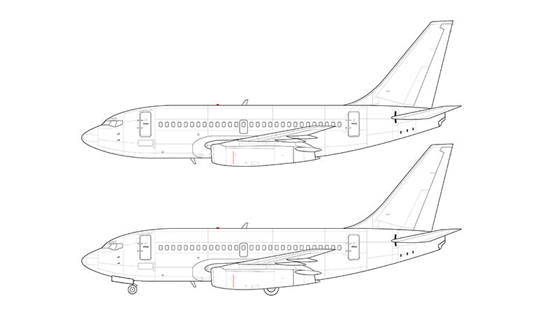 Boeing 737-100 retrofit line drawing