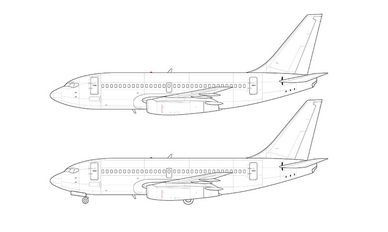 Boeing 737-200ADV line drawing
