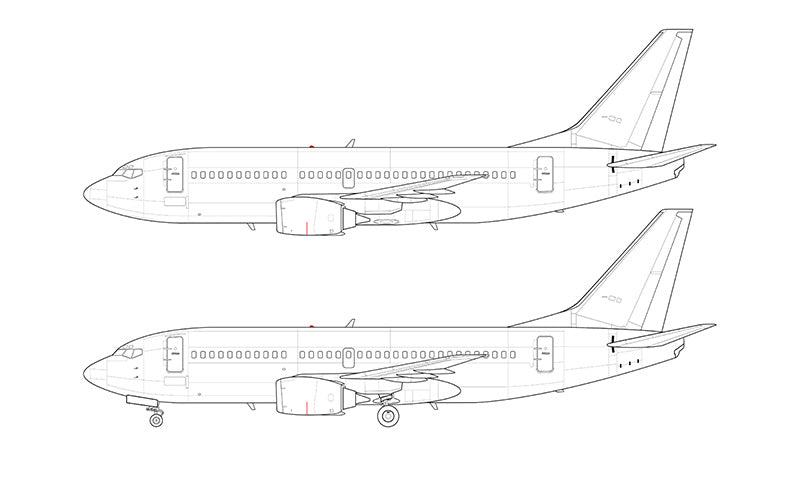 Boeing 737-300 line drawing