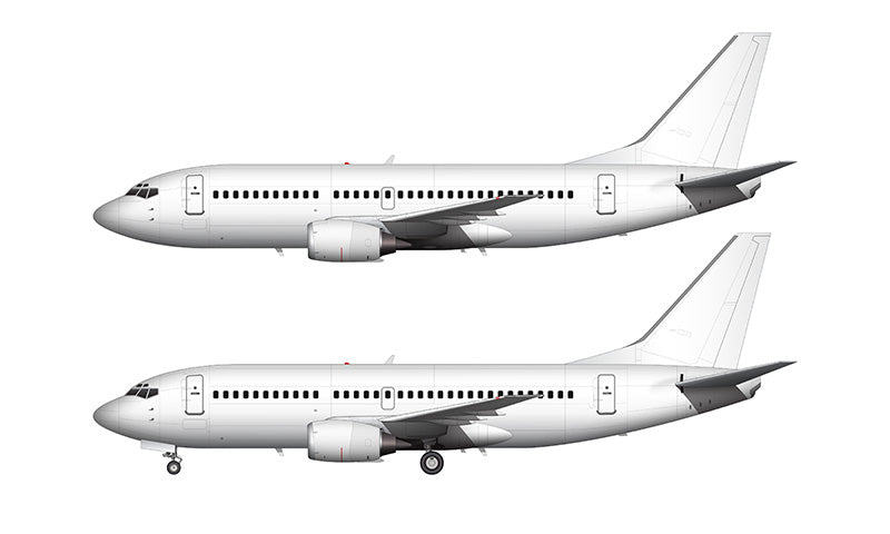 All White Boeing 737-300 template