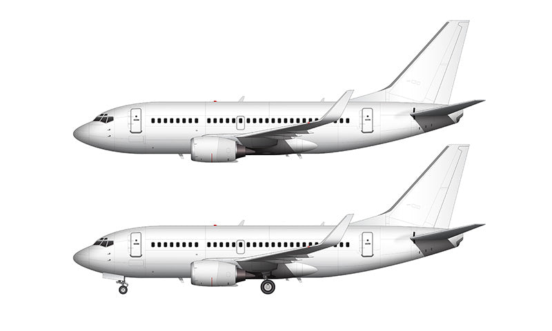 All White Boeing 737-500 with blended winglets template