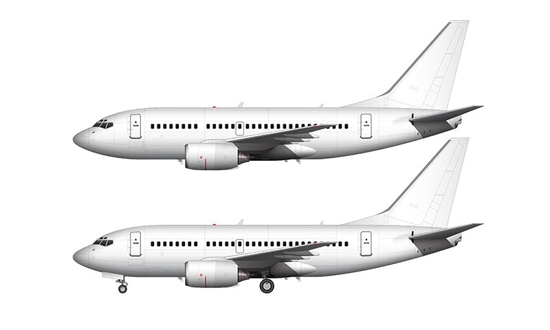 All White Boeing 737-600 template