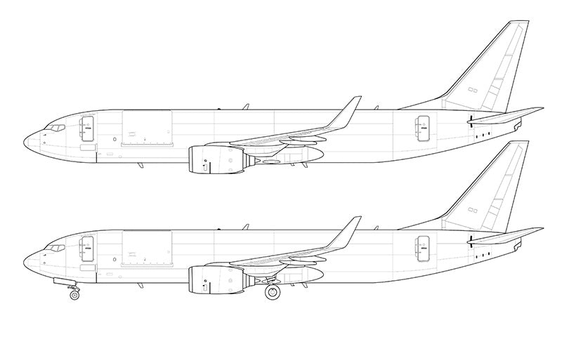 Boeing 737-800BCF line drawing