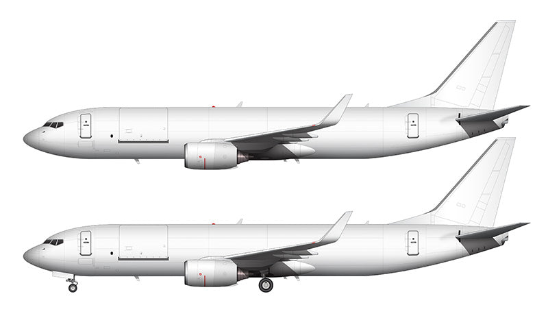 All White Boeing 737-800BCF template