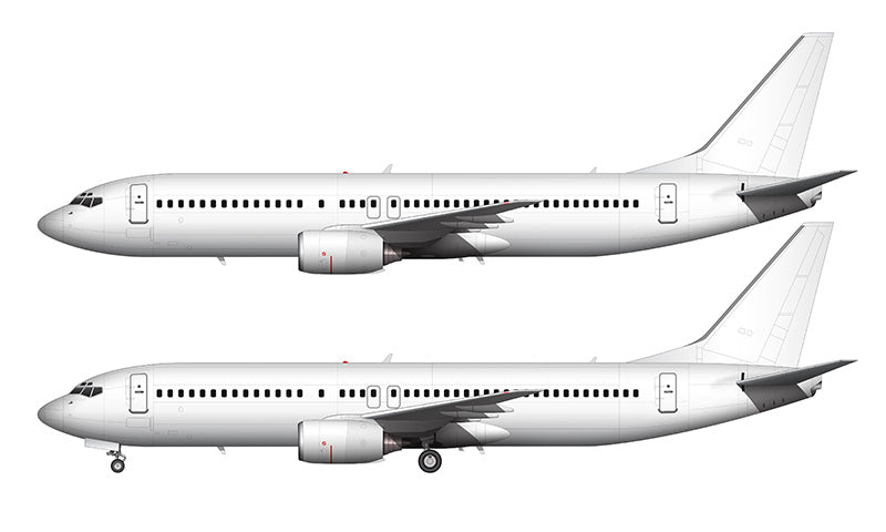 All White Boeing 737-800 without winglets template