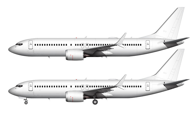 All White Boeing 737-8 MAX template