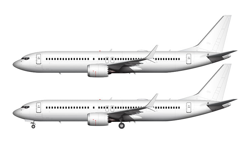 All White Boeing 737-9 MAX template