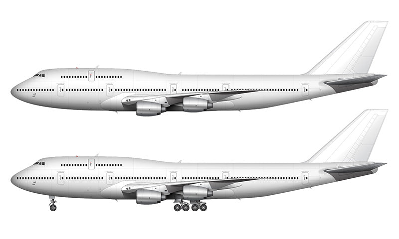 All White Boeing 747-300 with Rolls Royce engines template