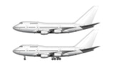 All White Boeing 747SP with Rolls Royce engines template