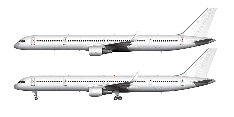 All White Boeing 757-300 with winglets template