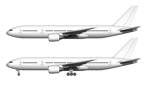 All White Boeing 777-200 template