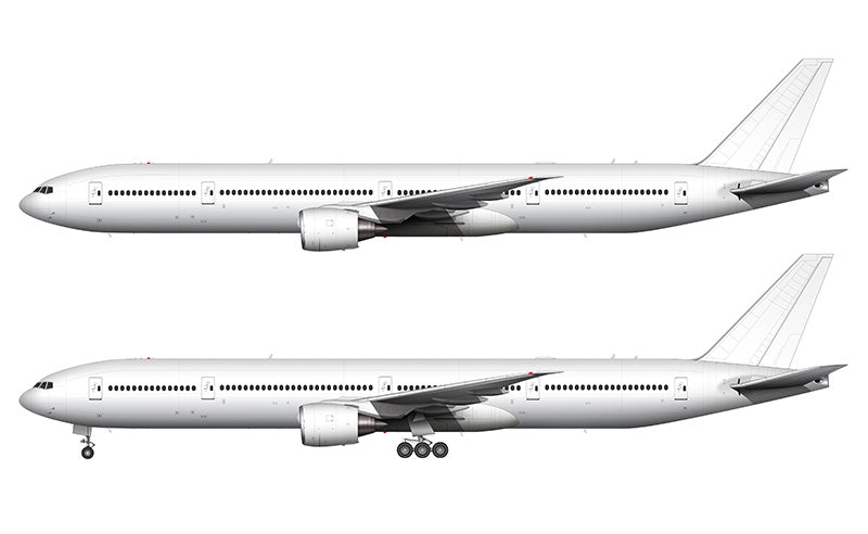 All White Boeing 777-300 template