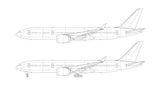 Boeing 777-8 line drawing