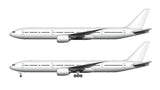 All White Boeing 777-9 template