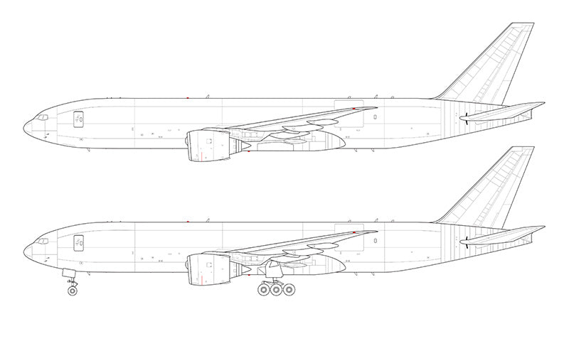 Boeing 777F line drawing