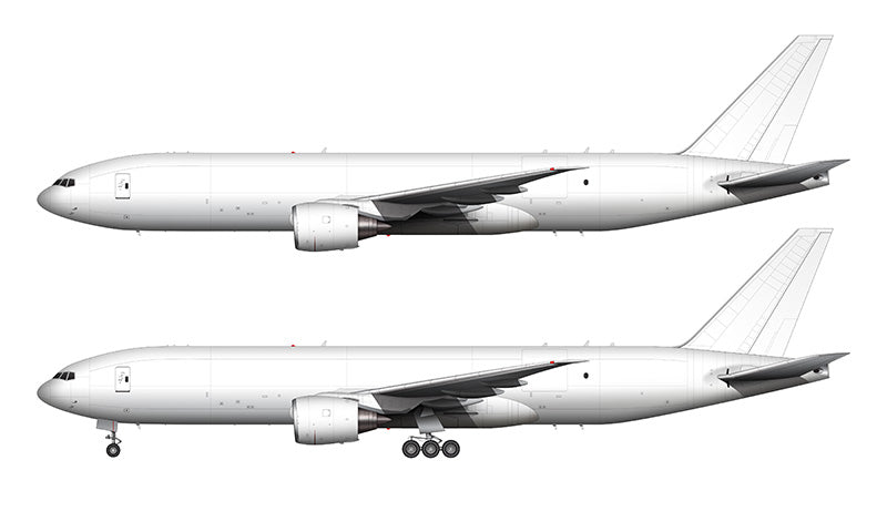 All White Boeing 777F template