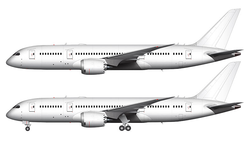 All White Boeing 787-8 template