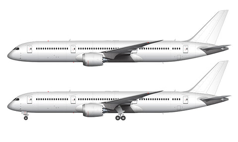 All White Boeing 787-9 template