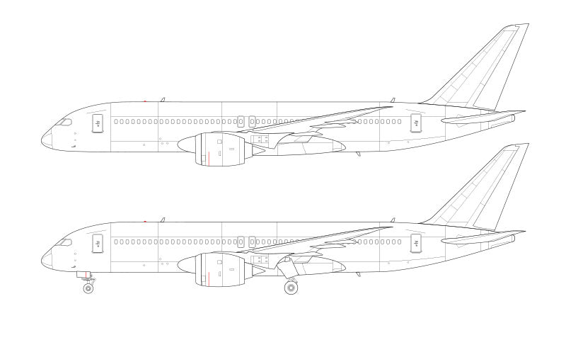 Boeing 797 line drawing