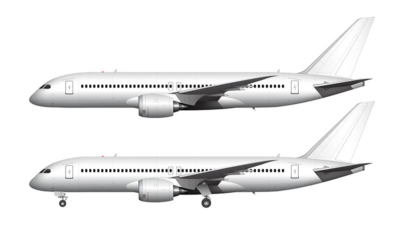 All White Boeing 797 template