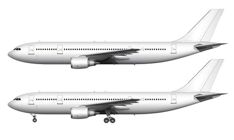 All White Airbus A300B4-600R with GE engines template