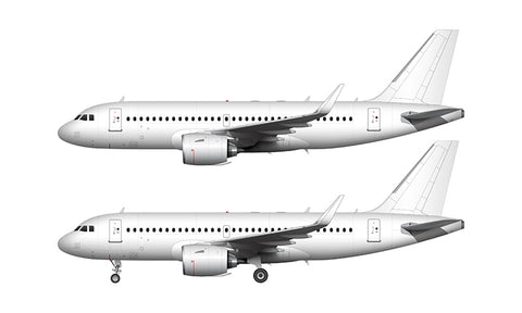 All White Airbus A319 NEO with Pratt & Whitney Engines template