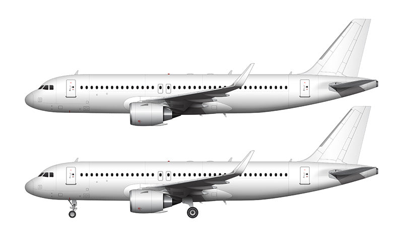 All White Airbus A320 NEO with CFM LEAP engines template