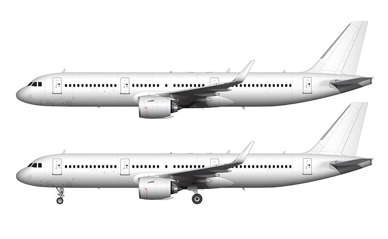 All White Airbus A321 NEO with Pratt & Whitney Engines template
