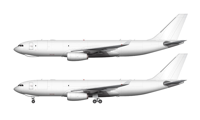 All White Airbus A330-200F with Rolls Royce engines template