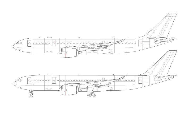 Airbus A330-800 NEO line drawing