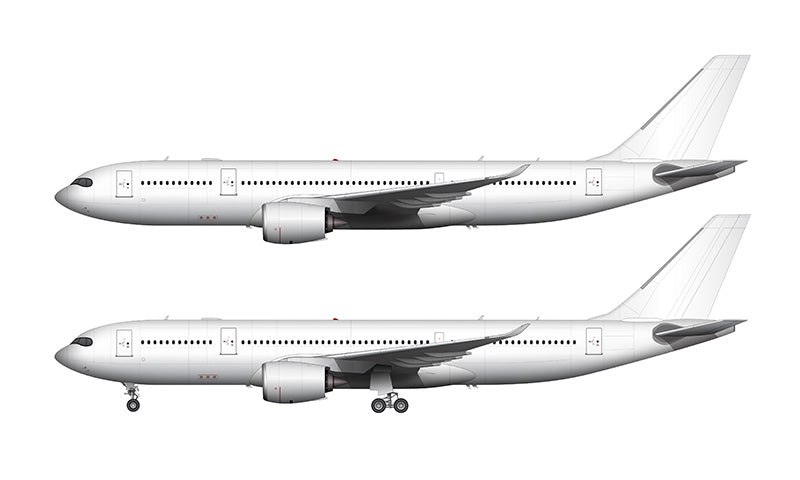 All White Airbus A330-800 NEO template