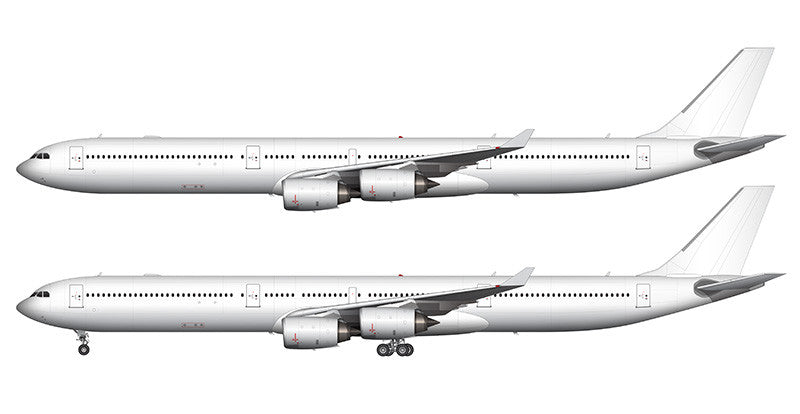 All White Airbus A340-600 template