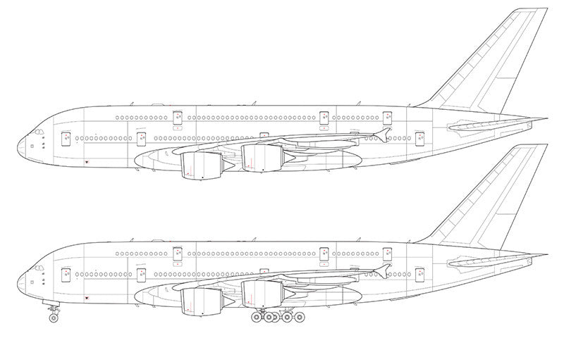 Airbus A380-800 line drawing