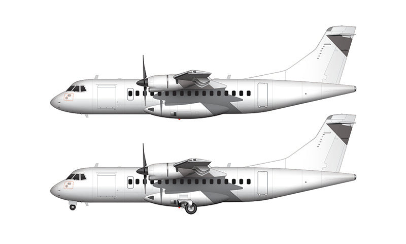 All White ATR 42 template