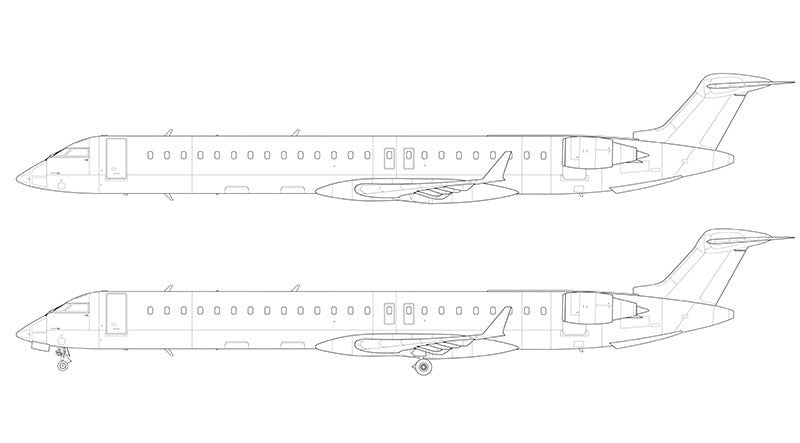 Bombardier Canadair Regional Jet 900 line drawing